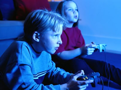 Video Game Addiction Images  amp  Computer Addiction Photos    Obese Children Playing Video Games
